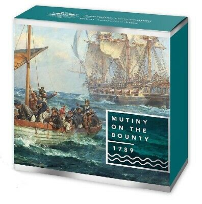 2019 $5 Fine Silver Proof Coin Mutiny and Rebellion - Mutiny on the Bounty
