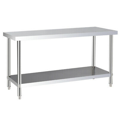 Food Prep Commercial Worktable Stainless Steel Catering Tables Garage Work Bench