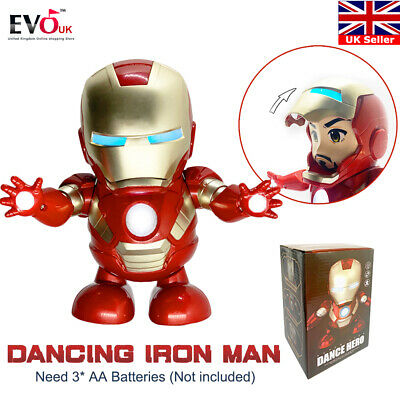 Iron Man Dance Hero Marvel Avengers Infinity War Endgame Electric Sound Toy Gift
