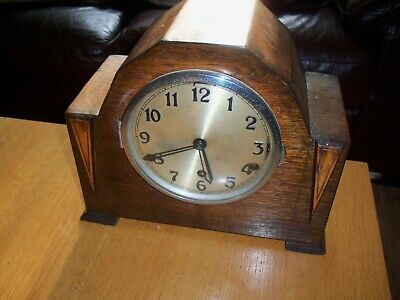 Art decco  ANVIL 8 day westminster chiming mantel clock  needs repair