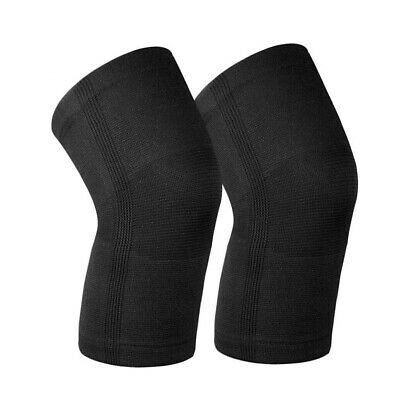 2 x Knee Sleeve Compression Brace Support For Sport Joint Arthritis Pain Relief