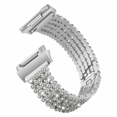 Replacement Women Wrist Watch Rhinestone Band Strap For Fitbit Ionic Smart Watch