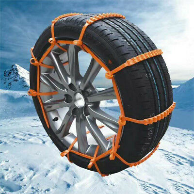 10x Universal Anti-skid Tire Chains For Car Snow Winter Emergency Driving-WI