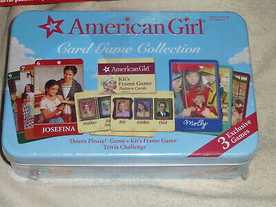 NWOT SHRINK WRAPPED Mattel American Girl 3 Card Games Collection 2007 Metal Tin