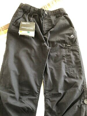 Craghoppers Boys trousers navy cargo 11-12 years BNWT Water/stain Resist,40+SPF