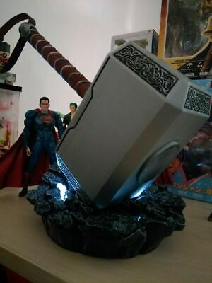 Avengers Full Metal Thor 1:1 Mjolnir Hammer /Stand Base Replica Cosplay Prop