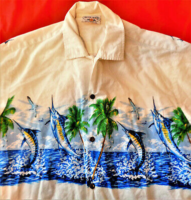 7896c8e0 Pacific Legend Apparel Made In Usa Mens Vintage Large 'Marlins' Button ...