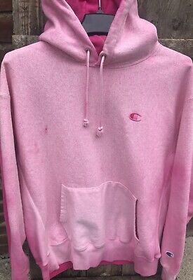 f5efb702d New $70 Size XL Champion Reverse Weave Pink Way Out Pigment Dye Hoodie