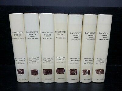 Bancroft's Works ~ History Of California ~ Complete 7 Vol Set