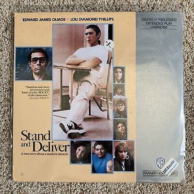 Stand And Deliver Laserdisc - Lou Diamond Phillips - BRAND NEW