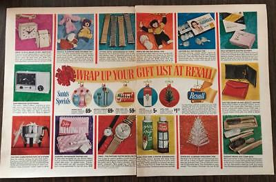 1963 Rexall Drug Stores Print Ad Christmas Gifts & Accessories 2 pages