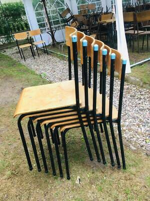 VINTAGE STACKABLE SCHOOL CHAIRS  DINING Laboratory Soviet  (6 available)