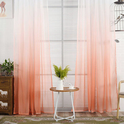 Bedroom Living Room Modern Window Tulle Curtain Home Decoration 8C
