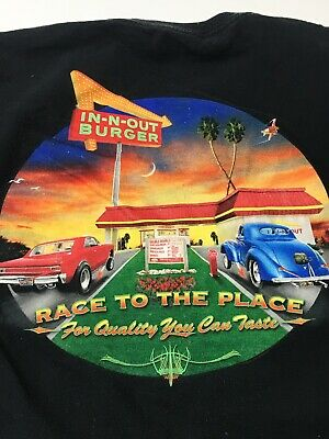 588e9186255b IN-N-OUT BURGER vintage T Shirt Size XL California Hot Rod Culture Americana