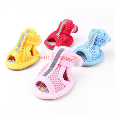 4pcs dog shoes summer Puppy Boots Reusable Booties Pawz Dog Waterproof