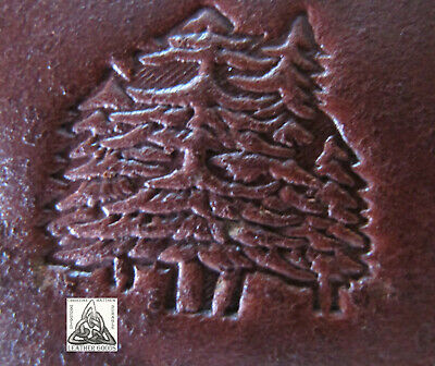 """Discontinued Craftool Co. USA Large Pine Trees 1"""" Leather Stamp Tool 8329"""