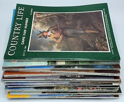 16 Issue Joblot of Country Life Magazines January to September 1984