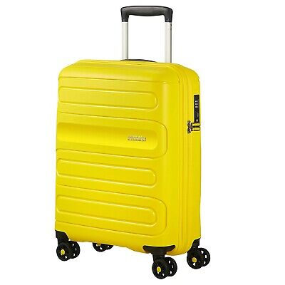 AMERICAN TOURISTER SUNSIDE spinner trolley TSA system YELLOW