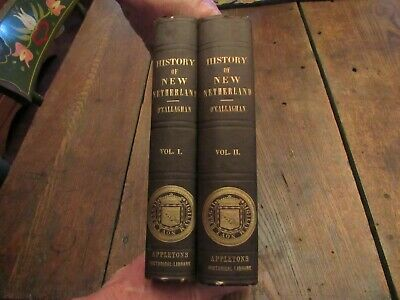 1848 2Vol.history Of New Netherland Dutch New England York Indian War Colonial