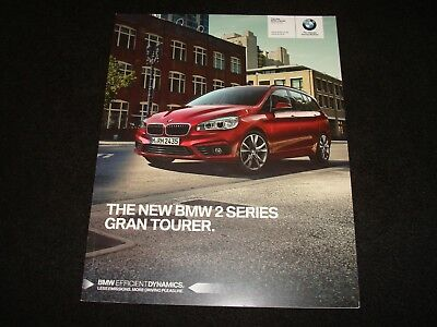 BMW Série 2 Gran Tourer UK Sales Brochure Juillet 2015, Neuf Old Stock