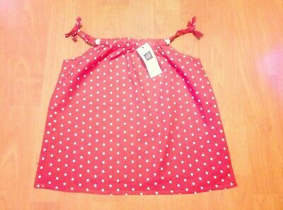 Girls BABY GAP Red & White Stars Sleeveless Blouse/Camisole Top Age 3 Yrs BNWT!