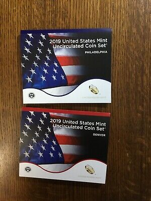 2019 US Mint Annual Uncirculated Coin Set - Without W Cent (NO DOLLER COINS)