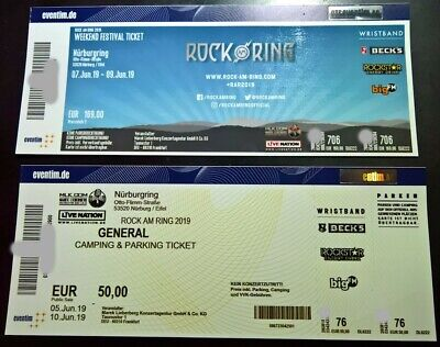 ROCK AM RING 2019 Weekend Festival Ticket + General Camping & Parking Ticket RaR