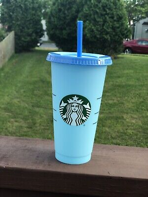 Starbucks COLOR CHANGING 1 SINGLE Cold Cup 24oz Blue Sky Cobalt *IN HAND*