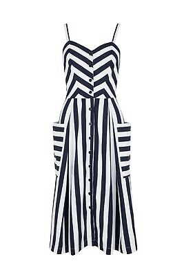 d910a8e5025192 Modcloth style Emily and Fin Layla dress in Nautical Stripe, large UK14, NWT