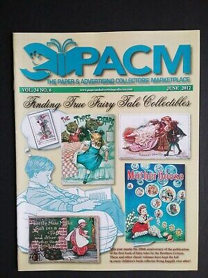 """Pacm"" Magazine Jun 2012 ""Fairy Tale Collectibles"" Vintage Paper Advertising"