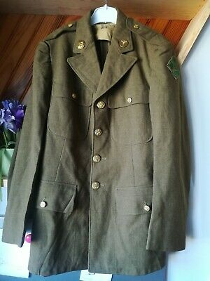 Veste Coat 4 pockets enlisted US Army WW2 WWII Medic 4th division infantry DDAY
