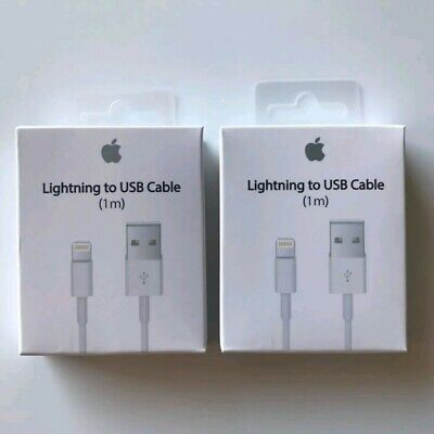 2XGenuine Original Apple Lightning to USB Charger Cable for iPhone 6s/Plus/5/SE