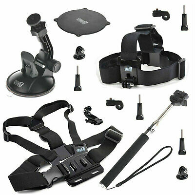 for GoPro Hero 4 3+ 3 2 Accessory Kit Chest Head Strap+Mount Holder+Float Handle