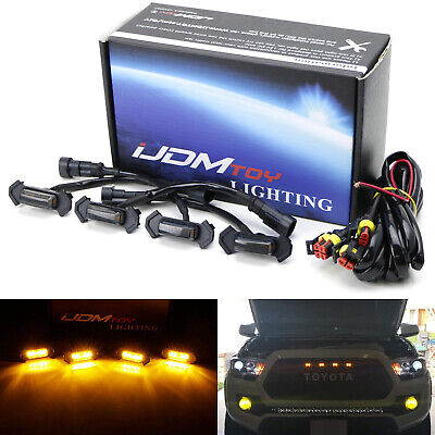 Smoked Lens Front Grille Lighting Kit For 16-up Toyota Tacoma w/TRD Pro Grill