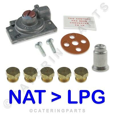 PITCO SOLSTICE FRYER SG18 CONVERSION KIT NAT GAS TO LPG 5 x JETS ROBERTSHAW
