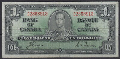 1937 Bank Of Canada $1 Dollar A/N 2858813 Coyne Towers Note