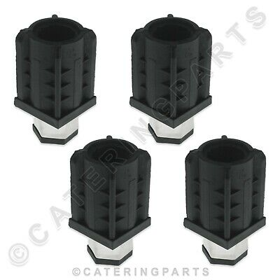 PUSH IN ADJUSTABLE FEET 4 x INSERTS FOR 40mm SQAURE TUBE LEGS TABLE WORKTOP SINK