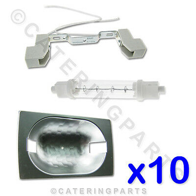 10 x COMPLETE KITS - FOOD SAFE GANTRY HEAT LAMPS / LIGHTS - HEATED DISPLAYS