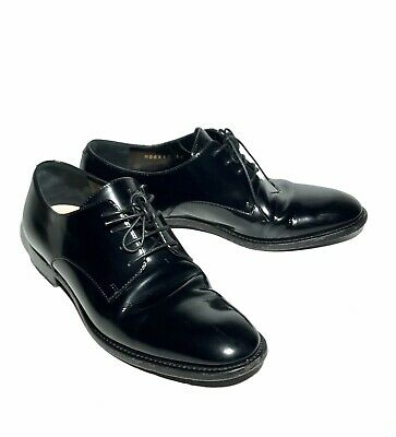 f09b45cf CHRISTIAN DIOR PATENT Leather Oxford Lace-Up Boots Women Shoe Size 36 US 6