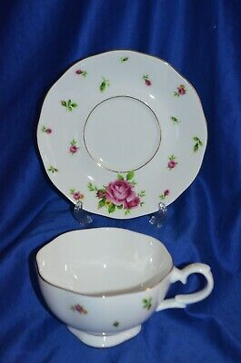 "~ Royal Albert ""New Country Roses"" Big Tea Cup and Saucer Plate ~"