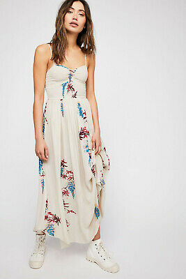 f105d1bd9eff Free People Beau Smocked printed Slip dress NWT Intimately M hippie Boho