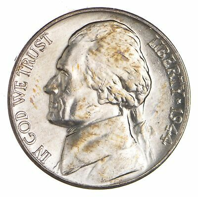 5c BU Unc MS 1944-D Jefferson WARTIME Silver Nickel *012