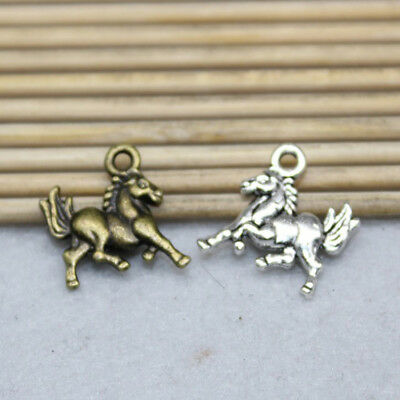 20/60pcs hot retro style alloy cute horse charm jewelry pendant accessories