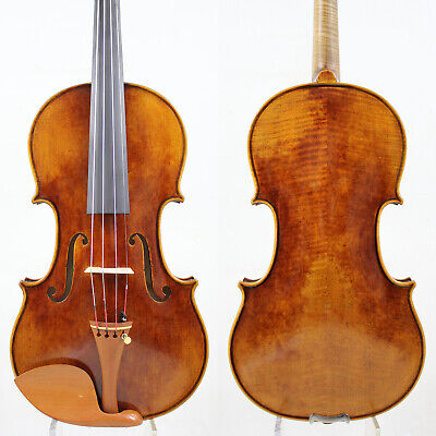 "Professional !Loud Strong Stradivari ""Dolphin"" 1714 Violin Copy M6001 Antique!"