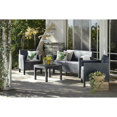 ALLIBERT SALON DE jardin HOUSTON 3 places modulable avec table basse ...