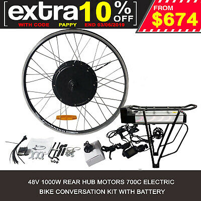 Rear Wheel 48V 1000W Electric Battery Powered Bicycle Motor Conversion 700C