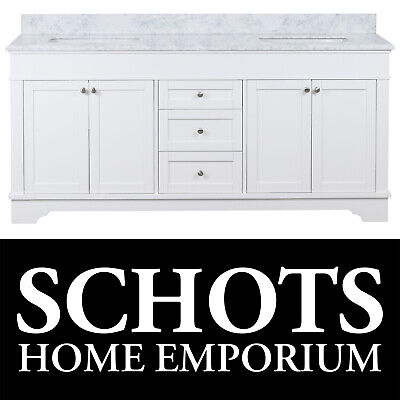 Hampton French Provincial Style Vanity Marble Bathroom Traditional Fremont 185cm