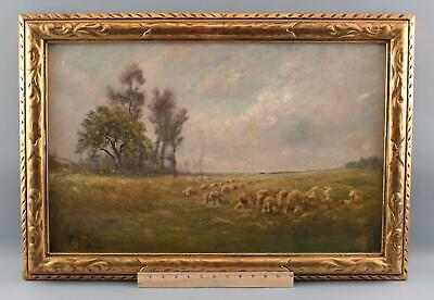 Antique EDWARD GAY Country Haystacks Impressionist Landscape Oil Painting