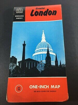 Vintage 1967 Map of Greater London – Ordinance Survey - Large