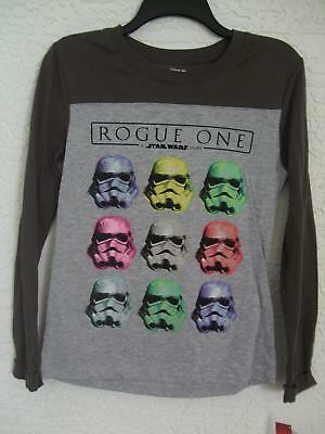 Nwt Star Wars Disney Xs Misses Gray Graphic Long Sleeve Tshirt $30